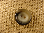 2 hole Italian Buttons 7/8 inch Light Grey #Bpiece-350