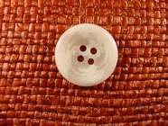 4 hole Italian Buttons 7/8 inch White #Bpiece-357