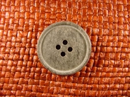4 hole Italian Buttons 1 inch Stone Grey #Bpiece-360