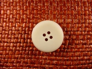 4 hole Italian Buttons 7/8 inch Off White #Bpiece-366