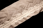"4 3/4"" Light Pink & Off White Sheer Braided Lace Trim #1006"
