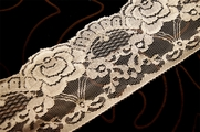 "3 1/4"" Off White Floral Raschel Lace Trim #1068"