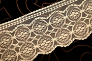 "4 1/2"" Off White Raschel Lace Trim #1073"