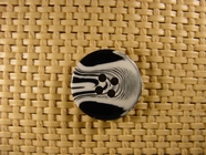 Designer 4 hole Buttons 13/16 inch White Black #Bpiece-394