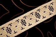 "1 3/4"" Light Beige Vintage Cotton Cluny Lace Trim#1148"
