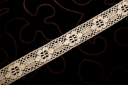 "1 1/8"" Light Beige Vintage Lace Trim #1211"
