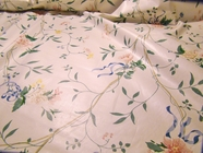 Floral Cotton Chintz Fabric Off White # UU-18