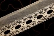 "2 1/2"" Cream Vintage Stiff Lace Trim #1306"