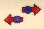 Red Arrow Blue Dots Iron-On Applique #appliques-17