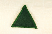 Hunter Green Triangle Applique #appliques-43