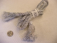 Silver Metallic Twist Cord with Tassel Ends (65 inches in length) #-LT-529