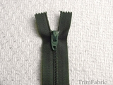 "7"" Dark Green Zipper"