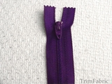 "9"" Grape Purple Zipper"