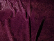 Deep Purple Wine Snakeskin Napped Knit Fabric