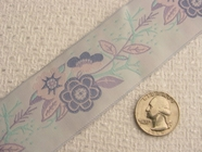 Softly Colored Floral Jacquard Ribbon #WR-55