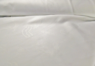 Pure White Dragon Jacquard Fabric #NV-168