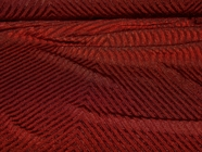 Diagonal Stripes Mulberry Wine Designer Stretch Knit Fabric #NV-172
