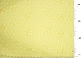 Light Yellow Embroidered Puckered Eyelet Fabric #ABC-579