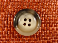 Italian Coat Buttons Wholesale (45pcs) 4 holes Designer Buttons 1 inch Grey #bag-7