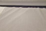 Off White Lilac Check Fabric with White Interfacing #NV-281