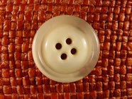 Italian Coat Buttons Wholesale (45pcs) 4 holes Designer Buttons 1 inch Off White #bag-8