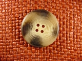 Italian Designer 4 hole Buttons 1 1/4 inches Brown Beige #Bpiece-195