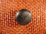 Faux Leather Buttons 7/8 inch Black #Bpiece-204