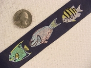Friendly Fish Jacquard Ribbon #-WR-72
