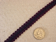 Navy Wine Braided Gimp Trim
