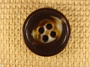 Italian Coat Buttons Wholesale (24pcs) 4 holes Designer Buttons 1 1/4 inch Dark Brown #bag-63