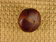 Italian Coat Buttons Wholesale (52pcs) Leather Shank Buttons 7/8 inch Brown #bag-74