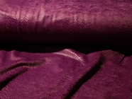 Deep Purple Wine Napped Snakeskin Fabric #NV-45