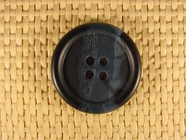 Italian Coat Buttons Wholesale (45pcs) 4 holes Designer Buttons 1 1/8 inch Dark Navy #bag-80