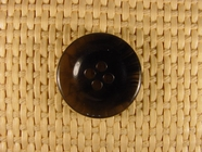 "Italian 4 Hole Buttons Wholesale (80pcs) 7/8"" Black Textured Clear Button"