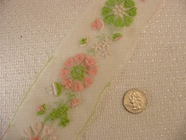 Sheer White Floral Embroidered Silk Lace Trim