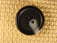 "Italian Coat Buttons Wholesale (62pcs) 1"" Gray Black 4 Hole Sewing Button"