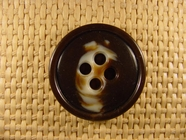 "Italian Coat Buttons Wholesale (24pcs) 1-1/4"" Brown Cream Textured 4 Hole Button"