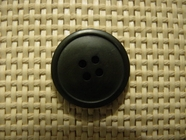 "Italian Coat Buttons Wholesale (36pcs) 1"" Dark Green 4 Hole Sewing Button"