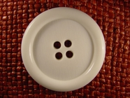 "Italian Big Coat Buttons Wholesale (10pcs) 1-3/4"" Big 4 Hole White Button"