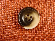 "Italian Coat Buttons Wholesale (36pcs) 1"" Tan Brown Tone 4 Hole Sewing Button"