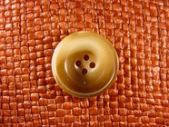 "Italian Coat Buttons Wholesale (36pcs) 1"" Honey Brown 4 Hole Sewing Button"