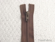 "7"" Medium Brown Zipper"