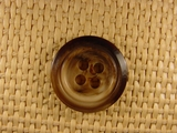 """Italian Coat Buttons Wholesale (36pcs) 1"""" Multi Brown 4 Hole Sewing Button"""