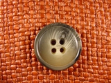 "Italian Coat Buttons Wholesale (36pcs) 1-1/8"" Multi Grey Tan Textured 4 Hole Button"