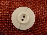 "Italian Designer Coat Buttons Wholesale (24pcs) 1-3/8"" 2 Hole Off White Button"