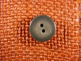 """Italian Thick Coat Buttons Wholesale (36pcs) 7/8"""" Gray Tone 2 Hole Sewing Button"""