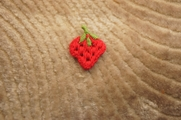Cute Red Strawberry Applique # appliques-1043
