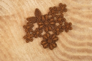 Brown Flowers Bundle Applique # appliques-1082