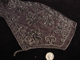 Vintage Embroidery Lace Collar Dark Grey Applique #AP-253