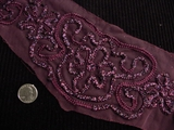 Vintage Embroidery Trim Burgundy Applique #AP-254